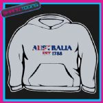 EMBROIDERED AUSTRALIA EST 1788 DESIGN THICK QUALITY ADULTS  HOODIE
